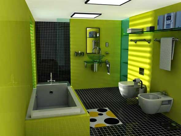 Banheiros coloridos 002