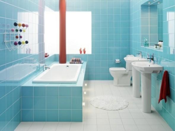 Banheiros coloridos 008