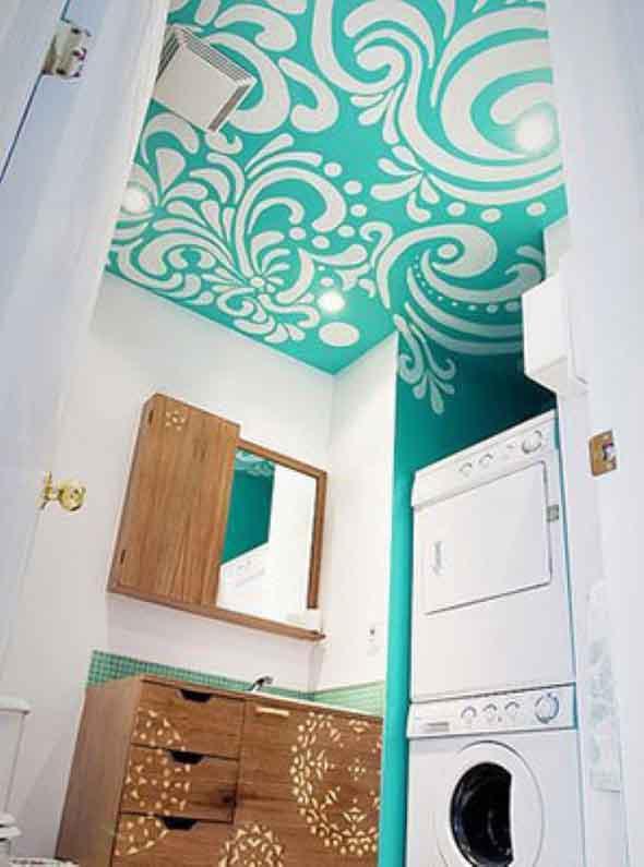 Decoração criativa no teto 006