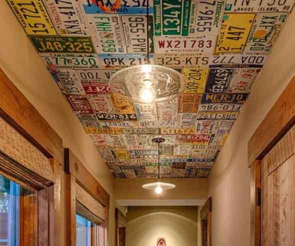 Decoração criativa no teto 008