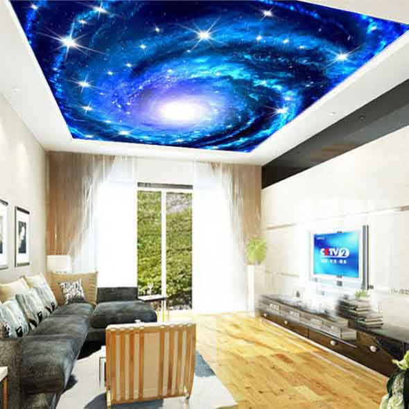 Decoração criativa no teto 010