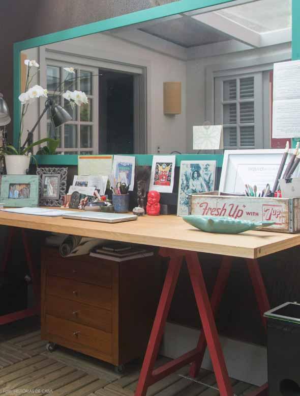 Espelhos na decoração do Home Office 008