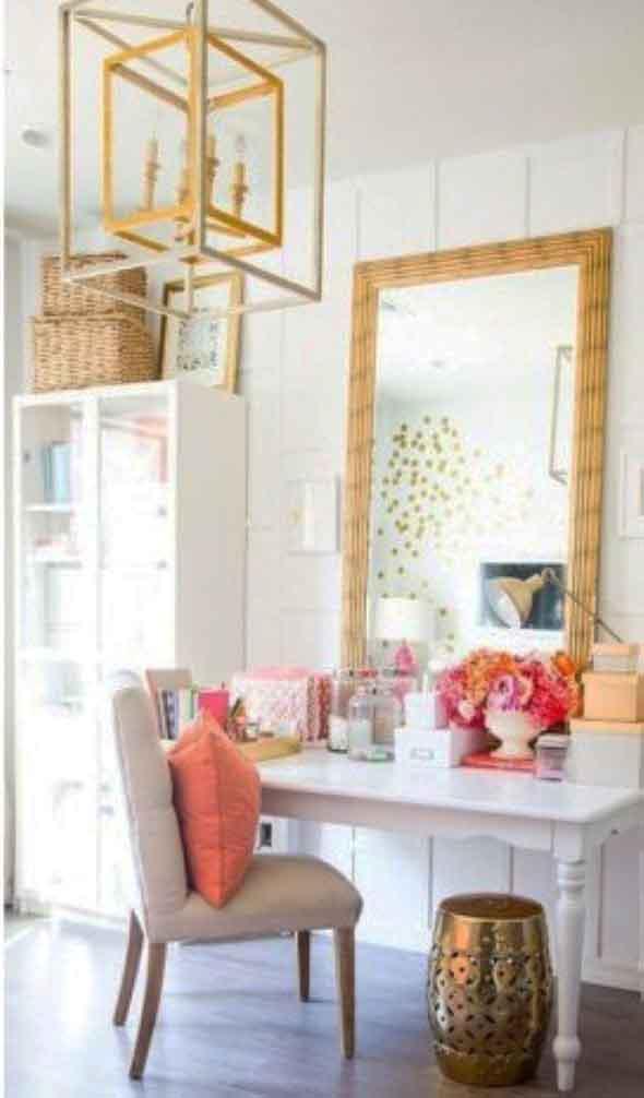 Espelhos na decoração do Home Office 010