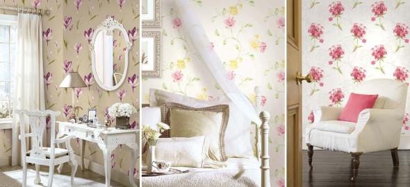 Papel de parede floral na decoração 002