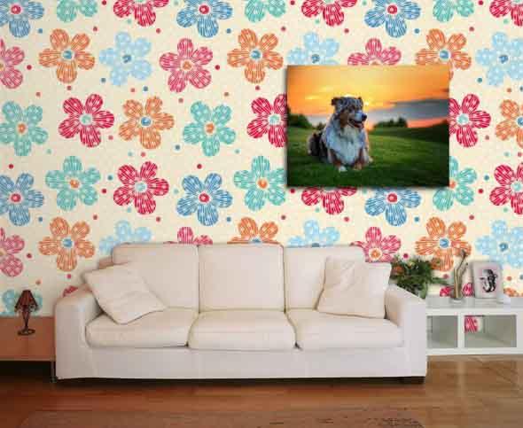 Papel de parede floral na decoração 014