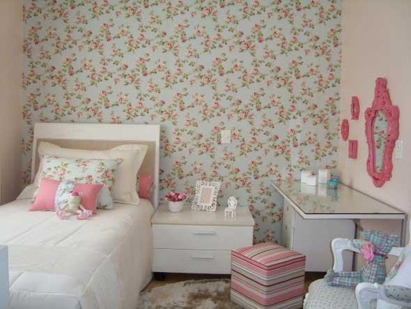 Papel de parede floral na decoração 016