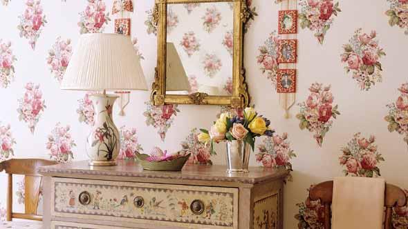 Papel de parede floral na decoração 022