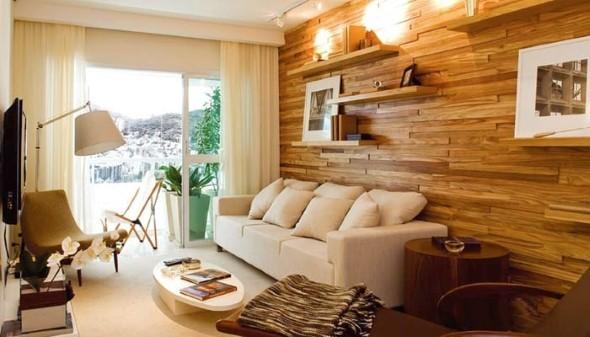 Sala de estar rústica 007