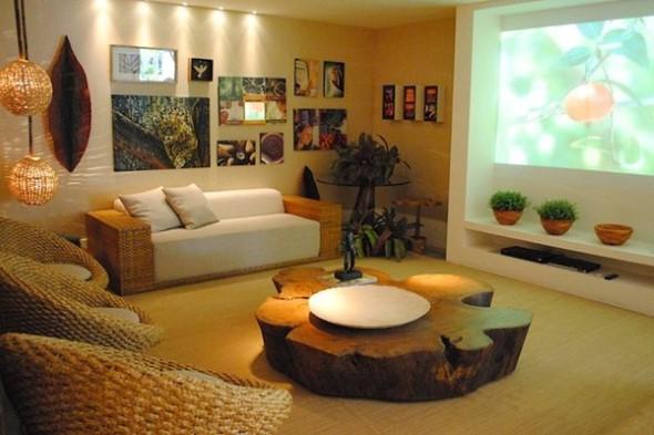 Sala de estar rústica 009