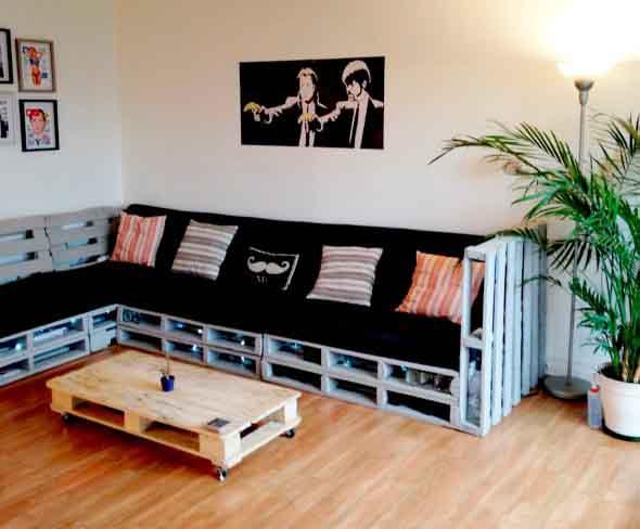 Sala de estar rústica 017