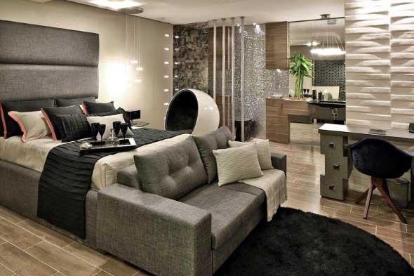 Tenha um sofá confortável em seu quarto 011