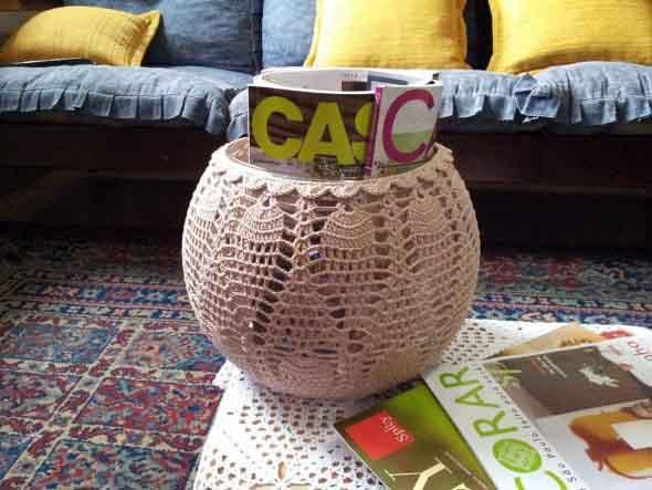 Usar crochê na decoração 016