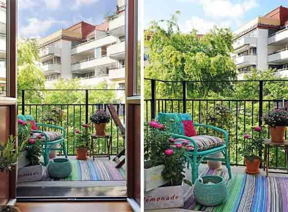 Colorido na varanda e jardim 004