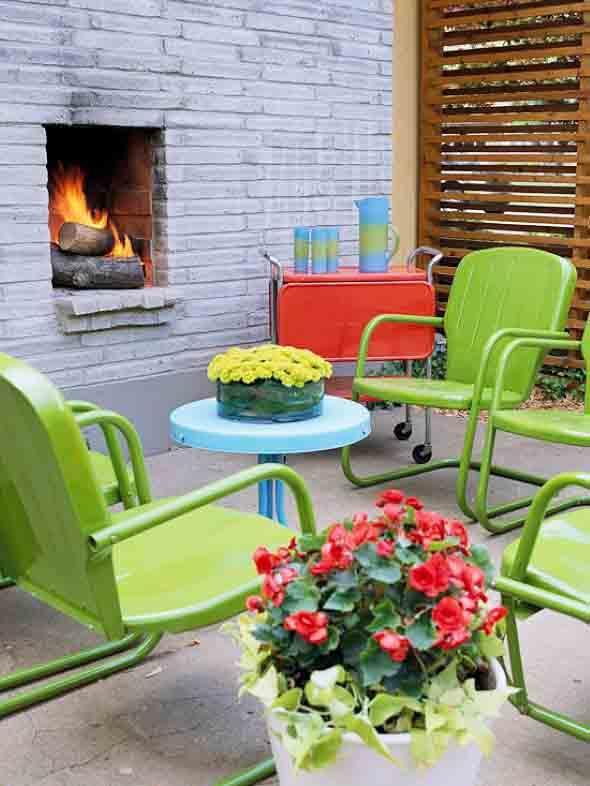 Colorido na varanda e jardim 005