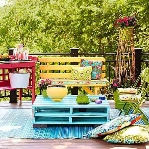 Colorido na varanda e jardim 007