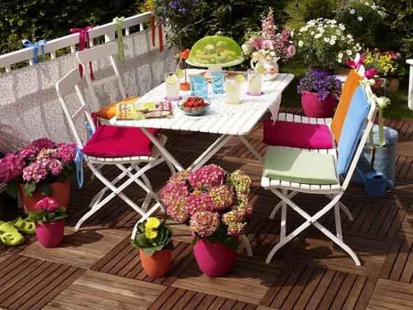Colorido na varanda e jardim 012