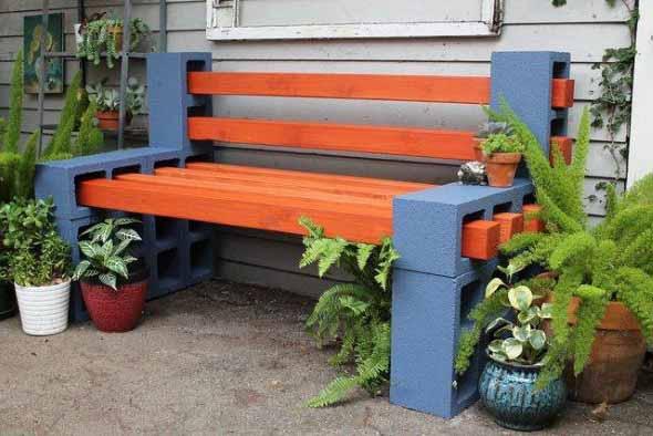 Colorido na varanda e jardim 016