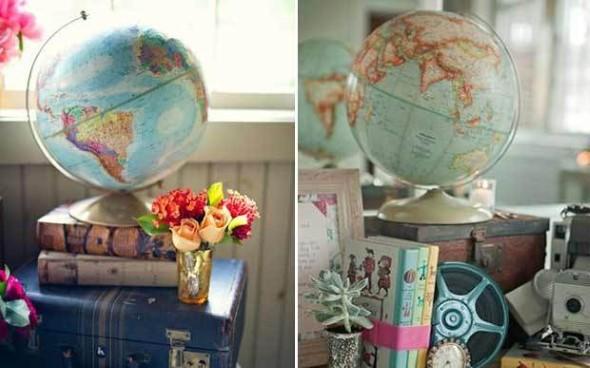 Ideias de decoração com o tema viagem 016