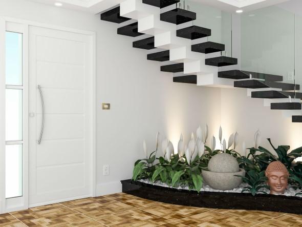 Jardim no vão da escada 007