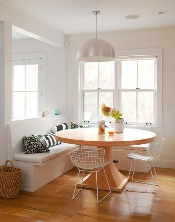 Mesas redondas na sala de jantar 016
