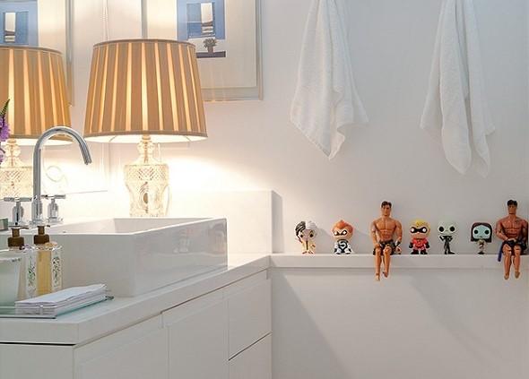 Objetos em miniatura na decoração 012