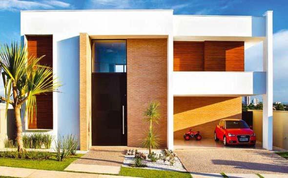 Casas modernas revestidas com tijolos 002