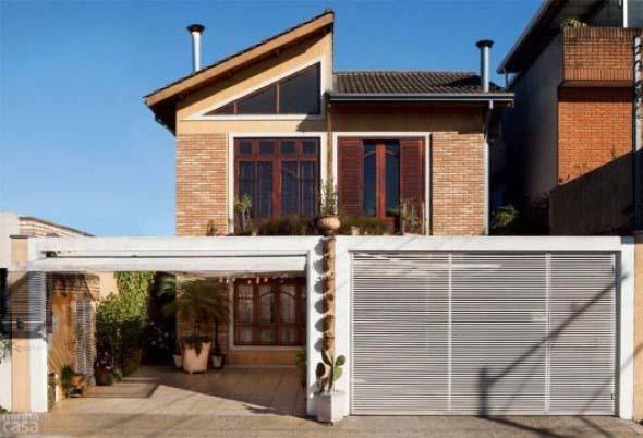Casas modernas revestidas com tijolos 003