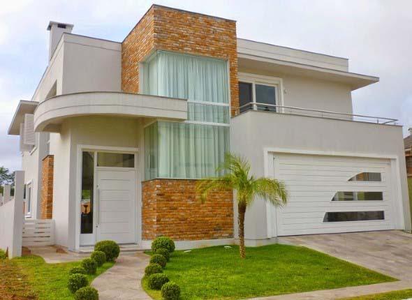 Casas modernas revestidas com tijolos 005