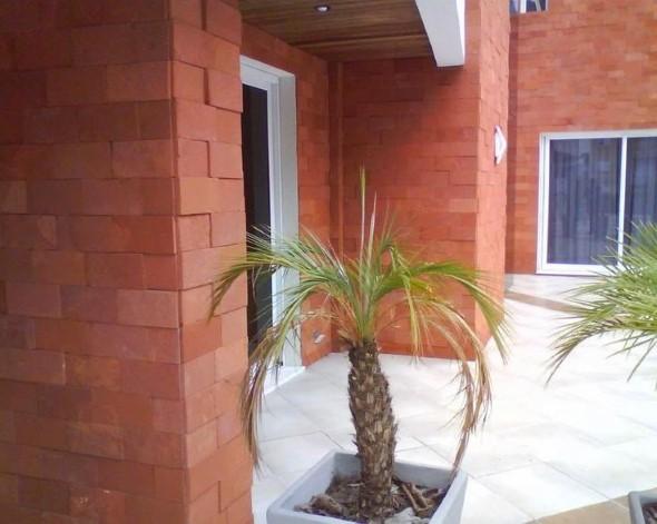 Casas modernas revestidas com tijolos 006
