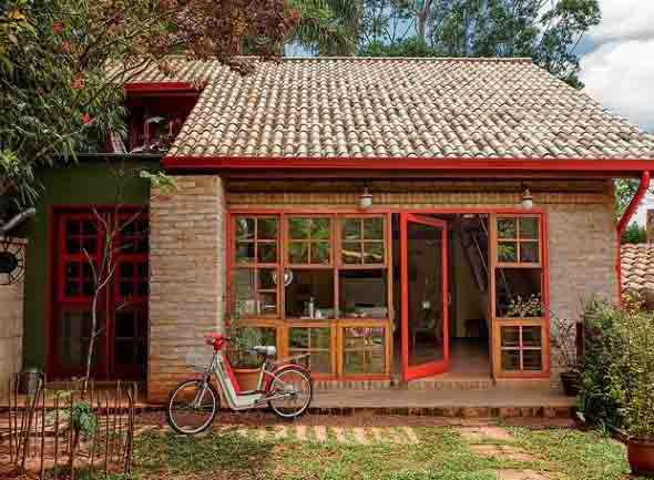 Casas modernas revestidas com tijolos 007