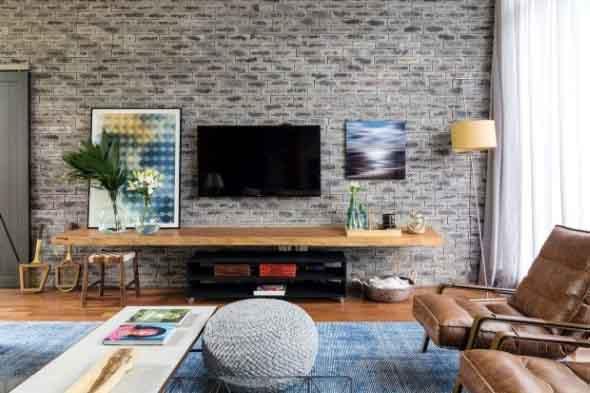 Casas modernas revestidas com tijolos 008