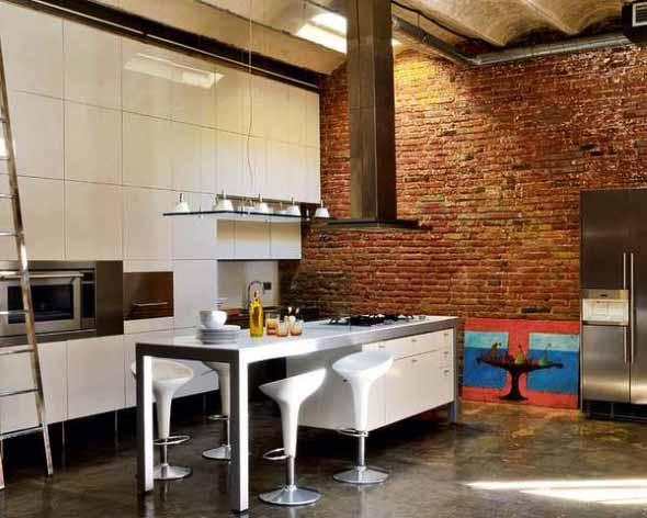 Casas modernas revestidas com tijolos 015