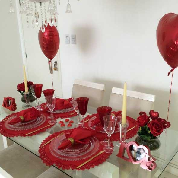Mesa de jantar decorada Dia dos Namorados 015
