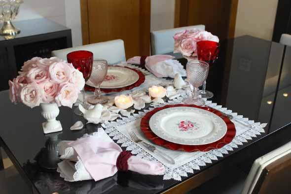 Mesa de jantar decorada Dia dos Namorados 016