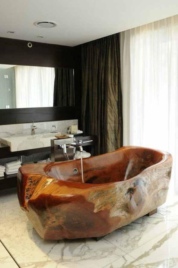 Decoração com banheiras antigas 015