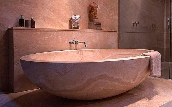 Decoração com banheiras antigas 016