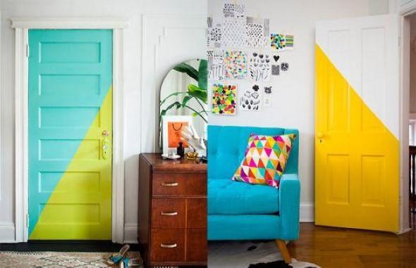 Decorar com portas coloridas 002