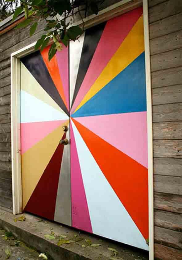 Decorar com portas coloridas 011