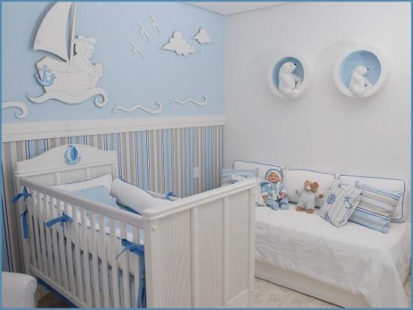Decorar quarto de bebê em estilo praia 001