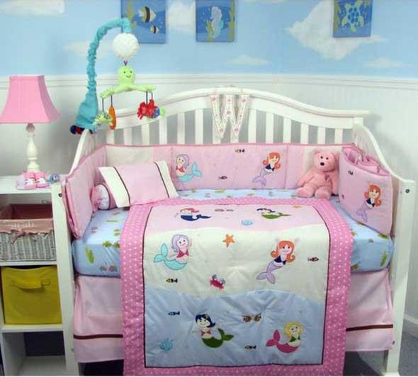Decorar quarto de bebê em estilo praia 014
