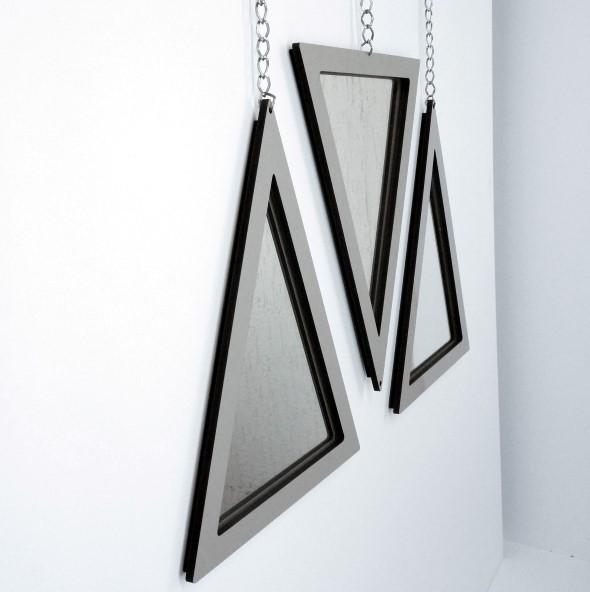 Espelhos triangulares na decoração 002