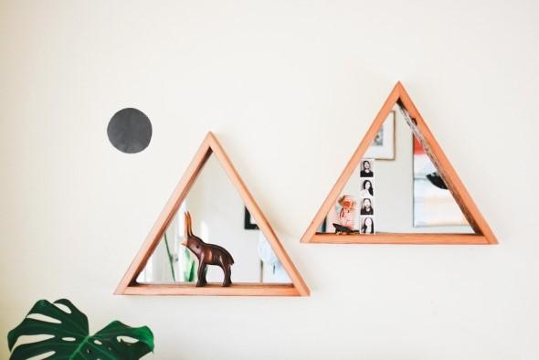 Espelhos triangulares na decoração 012