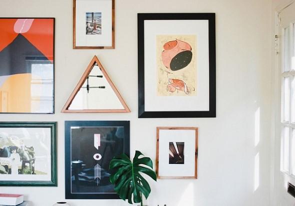 Espelhos triangulares na decoração 015