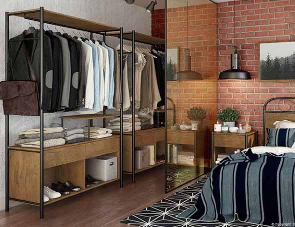 Guarda roupas sem portas 007