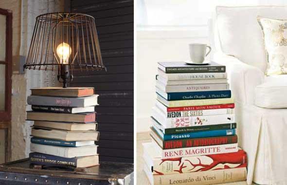 Ideias de decoração com livros velhos 001