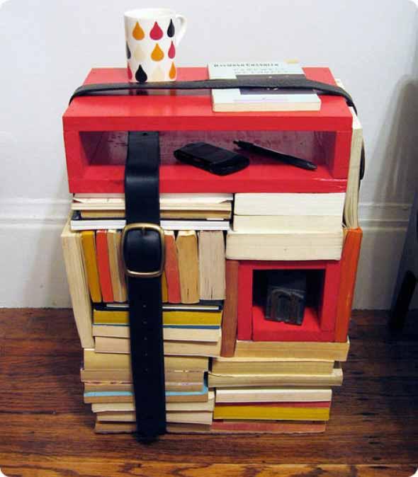 Ideias de decoração com livros velhos 013