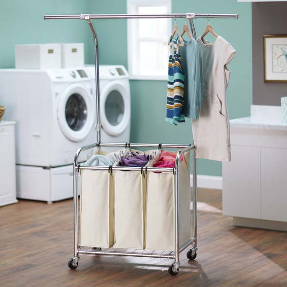 Organizar roupas na lavanderia 002
