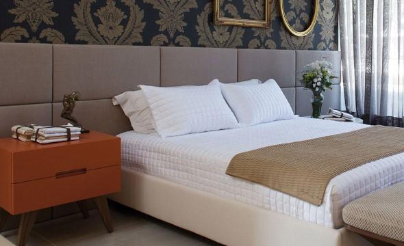 Cabeceira de cama estofada 007