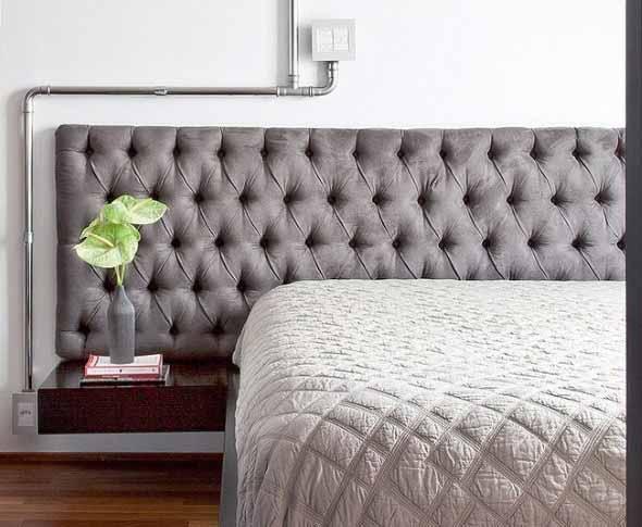 Cabeceira de cama estofada 014