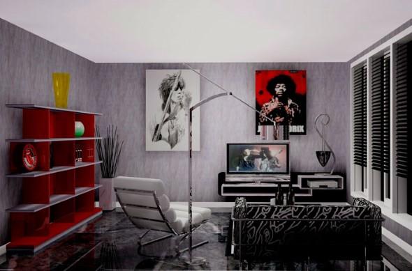 Decoração de ambientes com estilo musical 009